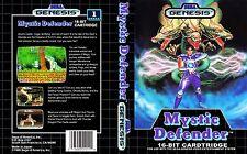 Mystic Defender Sega Genesis Ntsc caja de sustitución Arte Insertar Funda Repro.