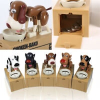 Choken Bako MECHANICAL Robot Robotic Eating Dog Coin Money Bank Saving Cute Box
