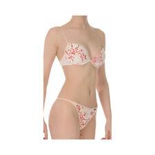 Bonds Peach/Red/White Floral Jersey Cotton Preformed Plunge U/W Bra