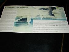 PETER KINGSBERRY MON INCONNUE!ORIGINAL FRENCH PROMO BIO