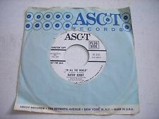 PROMO w SLEEVE Kathy Kirby In All the World / Time 1967 45rpm VG++