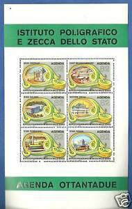 FOGLIETTO IPZS STABILIMENTI AGENDA 1982 6 francobolli