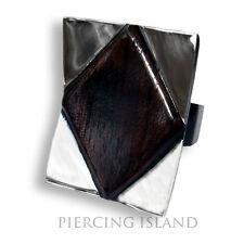 Designer Capri Ring Holz Edelstahl Wood Stainless Steel Natur Schmuck AR053