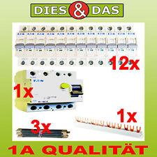 Eaton Set 1 interrupteur FI 40/0,03A 12 Fusible automatique B 16 A 3 Ponts 1
