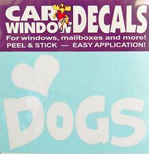 Car Vinyl Dog Decal Sticker - Love (Heart) Dogs - Made In Usa