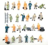 F41 H0- Set 25 Stück Figuren Arbeiter Bauarbeiter 1:87 bunte Mischung Konvolut