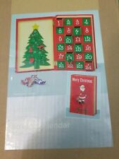 Wooden Christmas Advent Calendar Book Countdown - New In Box