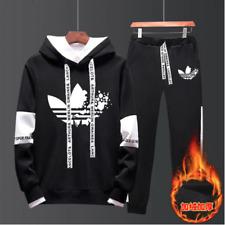 Set Pants & Hoodie Adidas Activewear Tracksuit Joggers + Sweatshirts Men's Suit