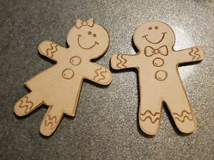 Gingerbread men and women. paint your own. Decorate. Christmas decoration