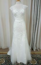 NEW Justin Alexander Sincerity Bridal Sheath Gown Lace 3813 Wedding Dress Ivory