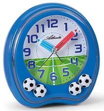 Atlanta Kinderwecker blau ohne Tickgeräusch Wecker Fußball Kinder Lernuhr 1719-5