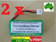 2x Generic 2.4V 800mAh Ni-MH battery for TELSTRA cordless phone V850 V850A V950A