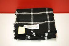 Women's Plaid Blanket Scarf, Wrap, Shawl (Black)