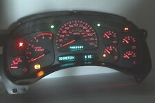 03-04 RED LED REBUILT CHEVY GMC DURAMAX Diesel Instrument Cluster $70 Money Back