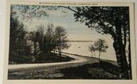 Vintage MICHIGAN postcard blue & gray CHARLEVOIX MI 1930s by Dahlquists store