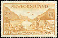 Mint H Canada Newfoundland 1933 75c VF Scott #C17 Air Mail Stamp