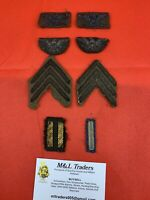 Original WWI World War One American Officers Bullion Patches Medals Insignia