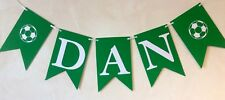 BOYS PERSONALISED PREMIER LEAGUE BIRTHDAY BANNER (UP TO 10 LETTERS) SINGLE NAME