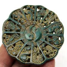 P199 Chinese Old Jade Twelve Zodiac TaiChi YinYan BaGua Lucky Feng Shui Pendant