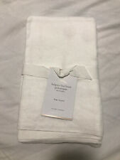 POTTERY BARN BELGIAN FLAX LINEN SET OF 2 KING PILLOWCASES WHITE NEW WITH TAG