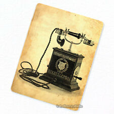 Telephone w/ Hand Crank Deco Magnet, Decorative Fridge Antique Machine Figure