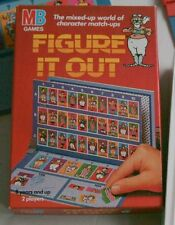 MB Games Figure it Out Rare Milton Bradley Incomplete