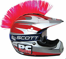 Motorcycle ATV Helmet Hot Pink Mohawk Peel & Stick Hook-N-Loop EZ Install Tape