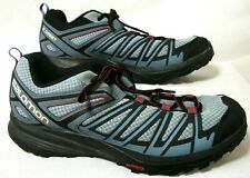 SALOMON X Crest Mens size 13 low cut hiking shoes Grey Gray Contragrip soles
