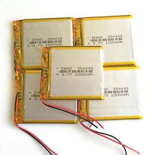5 pcs 3.7V 1000mAh Li Po Polymer Battery For PSP MP3 MP4 Recorder Speaker 354448