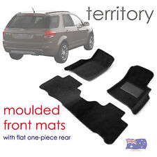 To suit Ford Territory SZ & MK2 3D Moulded Carpet Car Floor Mats 2011 to 2016
