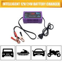 NEW 12V/24V Car Battery Charger 2/6 Amp 220V Boat ATV 4WD Caravan Motorcycle AU
