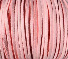 10 Auf 180 Meter Wildleder 3mm Band Spitze Rosa Armbänder Halsketten (ANT3-07)
