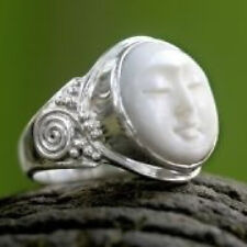 Moon Face Ring 925 Sterling Silver Ring Handmade Ring Worry Ring All Size KA-39