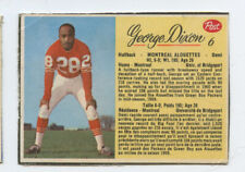 1963 POST CFL FOOTBALL #6 SP GEORGE DIXON MONTREAL ALOUETTES