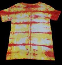 Boys cotton T-shirt Red/Yellow stripe Tie dye size 5, new
