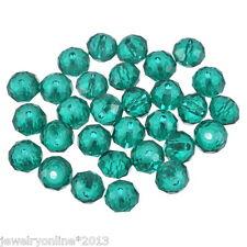 70 Malachitgrün Kristall Facettiert Böhmische Glasschliffperlen Beads 8mm