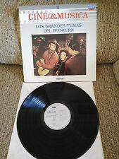 """LOS GRANDES THÈMES DEL WESTERN BANDE ORIGINALE LP VINYLE 12"""" 1987 VG VG+"""