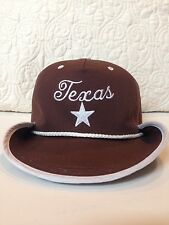 Big Texas Western Hat Cowboy and Baseball Cap in One Gag Gift Star Brown Adjust