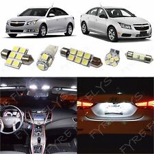 7x White LED lights interior package kit for 2011-2015 Chevy Cruze CC2W