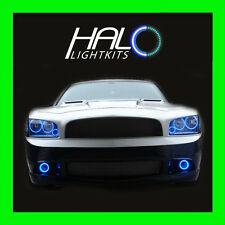 2006-2010 ORACLE DODGE CHARGER BLUE TRIPLE LED 8PC HEADLIGHT+FOG HALO RINGS