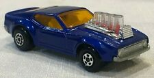 VINTAGE MATCHBOX  MUSTANG PISTON POPPER, LESNEY PRODUCTS, ENGLAND, 1973, Blue