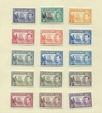 St Helena 1938 definitive set (including 8 d shade) mint