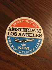Original Bierdeckel KLM Amsterdam Los Angeles