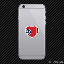 Tennessee Heart Cell Phone Sticker Mobile TN love hearts pride native