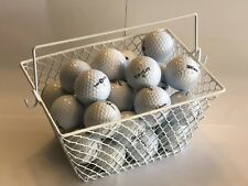 GOLF BALL BASKET... GREAT FOR PRACTICE ...Heavy-Duty Wire Mesh...White..