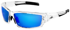 Bullhead Ballistic Rated Maki Safety Glasses Sunglasses Clear Frame Blue Mirror