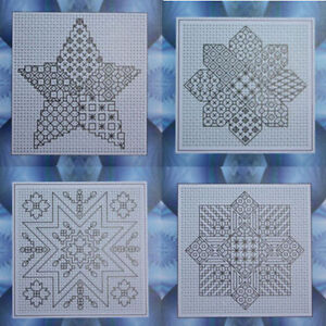 Blackwork Embroidery Kits - Star Theme - Choose from a range of designs