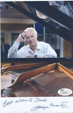 George Martin Authentic Signed 5x8 Color Photo Jsa Beatles To David