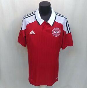 Denmark Euro 2012/2013 Player Issue Adidas Techfit Home Jersey Shirt Size 10/XL