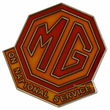 """MG """"On National Service""""  lapel pin"""